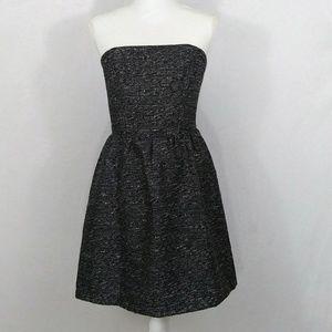 Gap Factory Strapless Party Dress sz 8 Black